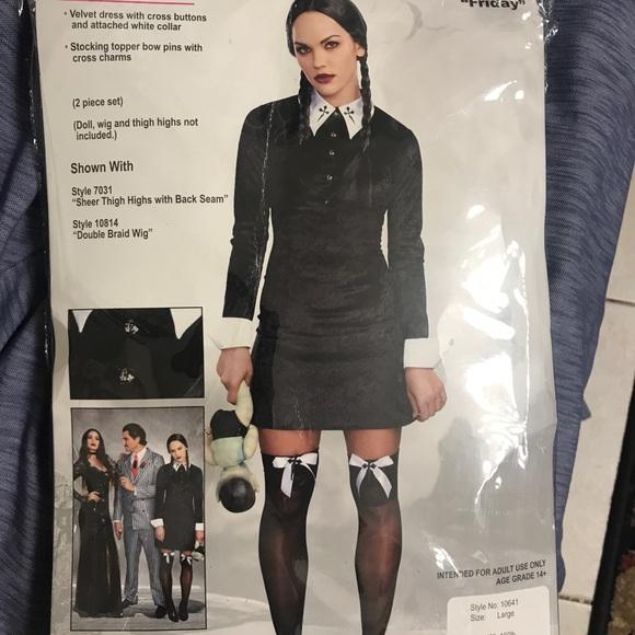 Dreamgirl Wednesday Addams Costume Nwt